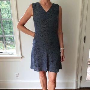 Elie Tahari denim cutout dress